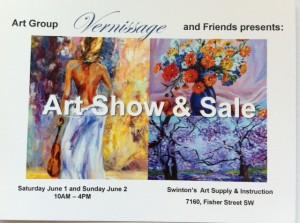Art Group Vernissage and Friends presents: ART Show & Sale